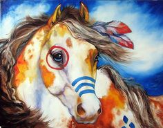 Indian War Horse   SKYY the INDIAN WAR HORSE - by Marcia Baldwin from Animals