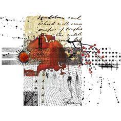 "Love the negative space  ""Crimson"" by shereeburlington on Polyvore"