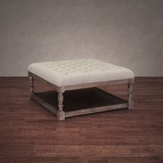 Creston Beige Linen Tufted Ottoman By I Love Living Coffee Table Ottomansquare