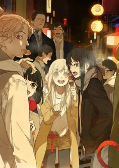 "The main characters Qiu Tong (秋瞳) and Sun Jing (孙璟) with the recurring characters from the manhua ""Tamen De Gushi (Chinese: 她们的故事 English: Their Story)"" by Tan Jiu (坛九). Anime Girlxgirl, Fanarts Anime, Anime Love, Kawaii Anime, Anime Characters, Manga Yuri, Yuri Anime, Comic Manga, Manga Comics"