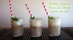 coffee, rum, vanilla bean ice cream drink