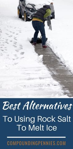 Rock salt is expensive and when a storm hits, is hard to find. Here are some cheaper alternatives to rock salt that work and will save you money! Diy Driveway, Salt Alternatives, Ice Melter, Shoveling Snow, Salt And Ice, What To Use, How To Make Snow, Saving Money, Snow