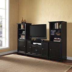 48 Inch TV Stand & Two 60 Inch Audio Piers  #tvstand #TVwallunit #wallunit #mediaunit #HomeDecor #InteriorDesigner #interiordesignideas #HomeDecorating #interiordesign #furniture #efurnituremart #HomeDecorator #decor #roomdecorating - eFurnitureMart, eFurniture Mart