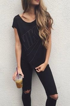 all black #nike #topshop