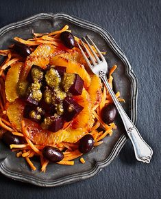 Ensalada de naranja sanguiina, remolacha y zanahoria | El Invitado de Invierno