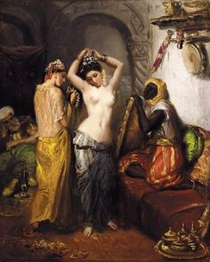 Theodore Chasseriau: Orientalist Interior or The Harem Interior (1852)