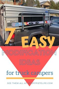 If you're looking for truck camper modification ideas and inspiration, you have come to the right place. Truck Camper Shells, Truck Bed Camper, Truck Camping, Pickup Camping, Camping Stuff, Camper Hacks, Diy Camper, Camper Storage, Camper Ideas