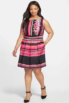 GABBY SKYE Women s Plus Size 16W Multi Colored Fit And Flare Dress NWT  108   fashion 9664c0771