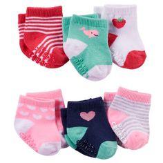 6-Pack Strawberry Socks
