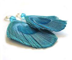 Sterling Silver Feather Jewelry - Dark Teal Earrings - Morocco Bohemian Jewelry - Turquoise Feather Earrings  - Boho Earring Tribal