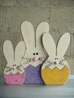 Bunnies....would be so cute in the flower beds peeking out