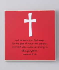 'His Purpose' Plaque