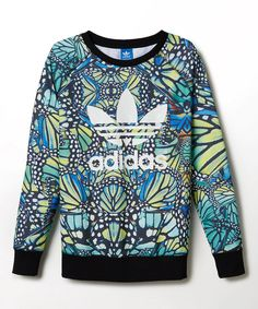 Look at this adidas Blue Butterfly Pullover on #zulily today!