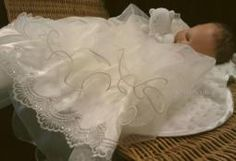 SL119 Sarah Louise 119 Ivory Tulle Christening Gown + Bonnet....click to enlarge Christening Gowns, Baby Pictures, Tulle, Ivory, Outfits, Christening Dresses, Suits, Tutu, Baby Photos