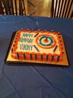Nerf Birthday Party Cake