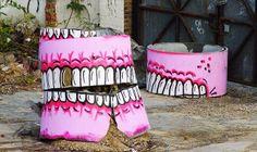Hackney Wick Teeth Graffiti