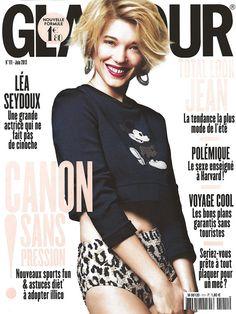#Harpo dans #Glamour en juin 2013 avec #LeaSeydoux