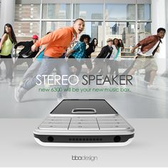 NOKIA 6300 Re-design Project on Behance Stereo Speakers, Graphic Design Branding, New Music, Industrial Design, Design Projects, Behance, Photoshop, Home Stereo Speakers