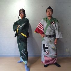Part of a collection by Kyoto-Sai called B.D.U. (Battle Dress Uniform). The yukata are inspired by WW2 maps and insignia. They have also produced fans and bags in this line. The interesting thing is...