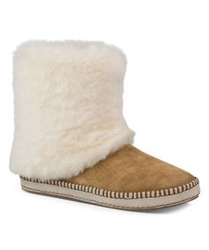 Another great find on #zulily! Chestnut Kestrel Sheepskin-Suede Boot #LoVe!!