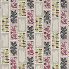 Seaweed Fabric Lime/Blackcurrant DFIF220030, £39.00 (http://www.britishwallpapers.co.uk/seaweed-fabric-lime-blackcurrant-dfif220030/)