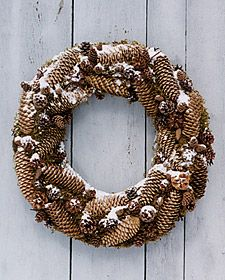 Another Pinecone Wreath -- I like the look of the snow on this one -- I think I'd want to recreate that snow look, too!  :)