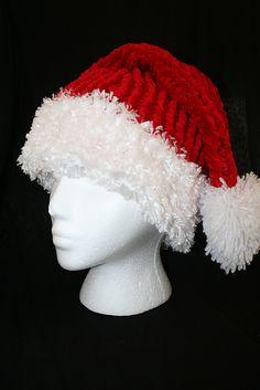 Ravelry: Loom Knit Santa Hat pattern by Dena Ziegler