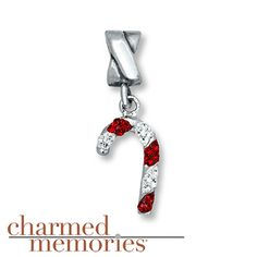 Charmed Memories Candy Cane Charm Sterling Silver
