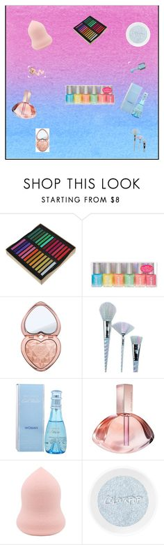"""Beauti!"" by aneto-j ❤ liked on Polyvore featuring beauty, Too Faced Cosmetics, Unicorn Lashes, Davidoff and Calvin Klein"