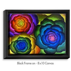 DiaNocheDesigns 'Joyous Flowers IV' by Jennifer Baird Painting Print on Wrapped Framed Canvas
