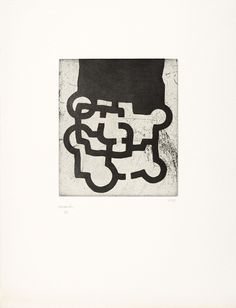 Eduardo Chillida (1924-2002), Homenaje a Sir Roland Penrose, 1981. Etching on Rives BFK with Japanese paper. Plate size: 29.2cm H x 25cm W. Sheet size: 65cm H x 50cm W. Edition of 133 copies.