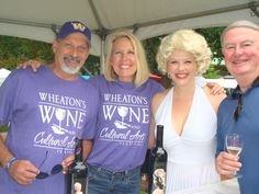 Wheaton's Wine and Cultural Arts Festival 2014 Volunteers pour Marilyn Monroe wines at this year's festival