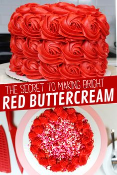The Secret To Making Bright Red Frosting – Chelsweets Struggling to make bright red frosting? I share all my tips and tricks for making the deepest, brightest shade of red buttercream frosting Cupcake Icing, Buttercream Recipe, Cupcake Frosting, Frosting Recipes, Cupcake Cakes, Cake Recipes, Red Icing Recipe, Buttercream Flowers, Dessert Recipes