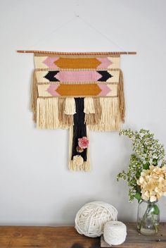 Picking Berries Weaving // Woven Wall by wildcolumbinetextile, $200.00