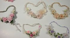 video tutorial - making shabby chic wire hearts adorned with tiny flowers, love these! so sweet!