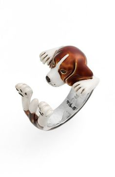 Dog Fever Beagle Hug Ring available at #Nordstrom
