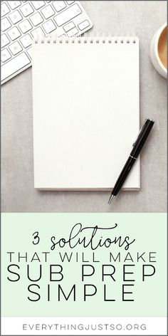 Three Solutions That Will Make Sub Prep Simple — everything just so Teachers Aide, Teacher Blogs, New Teachers, Teacher Hacks, Elementary Teacher, Teacher Resources, Upper Elementary, Teacher Gifts, Classroom Jobs