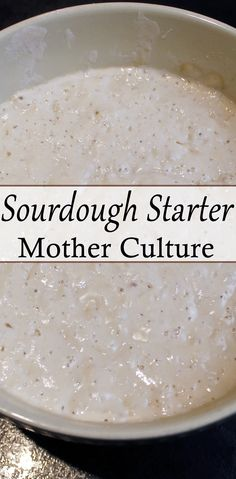 Learn how to make the sourdough Mother Culture and a ferment (starter) that is used in a whole range of healthy sourdough food.