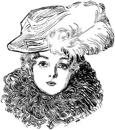 ༺ Gibson Girls ༻ Illustrations from the Belle Époque - Charles Dana Gibson Charles Dana Gibson, Art Students League, Gibson Girl, Art Institute Of Chicago, Look At You, Digital Stamps, Belle Epoque, Illustrators, Dame