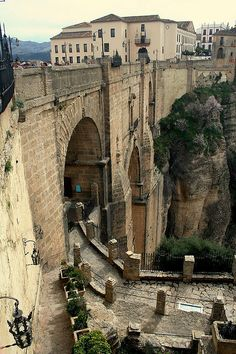 Nuevo Bridge of Ronda, También llamado El Tajo.Sur de Andalucía.España.