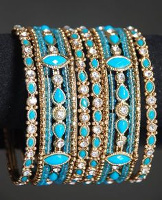 Indian bangles in my favorite color! I Love Jewelry, Boho Jewelry, Jewelry Box, Jewelry Design, Jewellery, Indian Accessories, Jewelry Accessories, Fashion Accessories, Fashion Jewelry