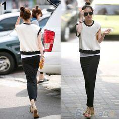 Womens-Long-Maxi-Skirt-Cotton-Blend-Full-Length-High-Waist-Stretchy-Dress-B84U