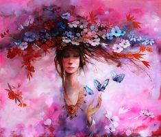 Merab Gagiladze -  Spring Butterfly Art, Figure Skating, Fashion Art, Gallery, Drawings, Figurative, Spring, Artist, Artworks