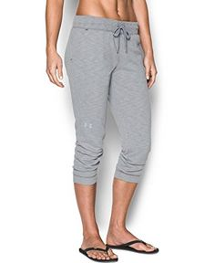 Under Armour Womens Ocean Shoreline Terry Capri True Gray HeatherBlack XLarge ** Learn more by visiting the image link.(This is an Amazon affiliate link and I receive a commission for the sales)