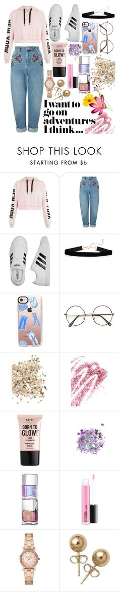 """Keep it trend"" by meganjaned ❤ liked on Polyvore featuring Miss Selfridge, adidas, Casetify, Topshop, Obsessive Compulsive Cosmetics, NYX, The Gypsy Shrine, Michael Kors and Bling Jewelry"