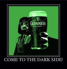 Darth says Happy St. Patrick's Day!