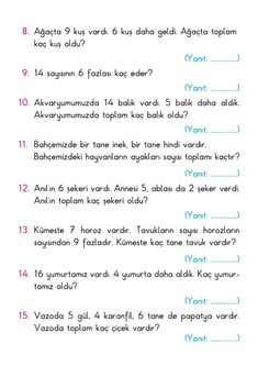 English Worksheets For Kids, English Lessons For Kids, Math For Kids, Puzzles For Kids, Printable Crossword Puzzles, English Exercises, Learn Turkish, First Grade, Printables