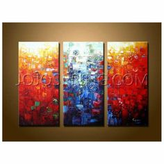 modern artwork for the home | Home >> Oil Paintings >> Abstract >>Abstract' Hand-painted Oil ...