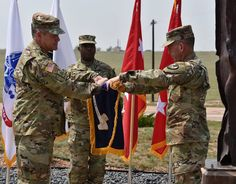 During the flag unfurling ceremony with U.S. Space Command at Schriever Air Force Base, Lt. Gen. Daniel L. Karbler, USASMDC commanding general, emphasized readiness, stressing that any transfer of forces into the U.S. Space Force is conditions based to ensure no readiness gap. Air Force Bases, Army, Gi Joe, Military